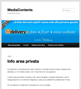 Area privata demo MediaContents