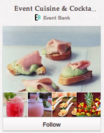 Event Cuisine & Cocktails Pinterest