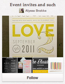 Event invites and such Pinterest