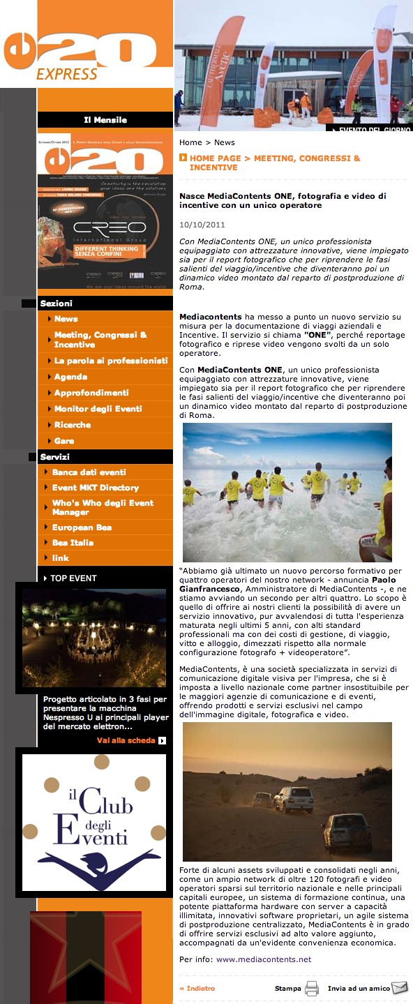 E20 - MediaContents ONE