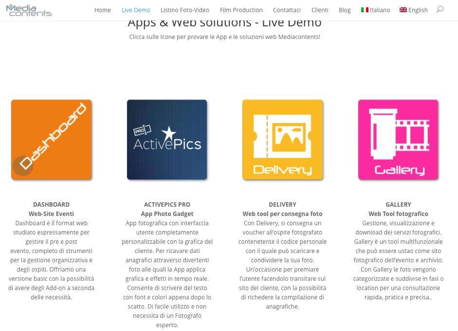 Live demo MediaContents